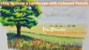 Start Drawing: Part 10 Landscape with Coloured Pencils