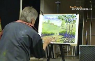 Paint an Impressionist style lanscape