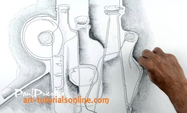 Creative Drawing, how to draw bottles imaginatively
