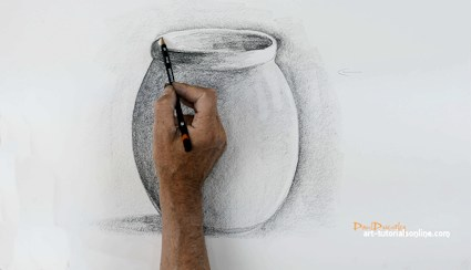 How to Draw a Simple pot