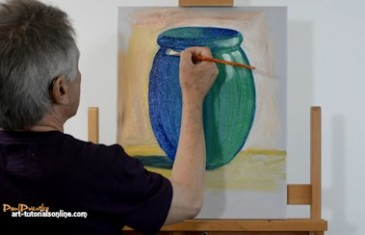 How to paint a simple pot