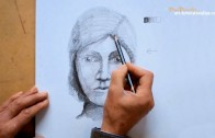 Draw people – draw a face with light and shade