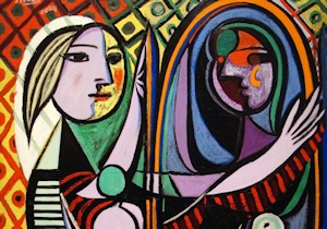 Picasso girl in a miror