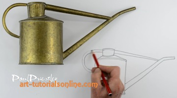 drawing shapes using watering can