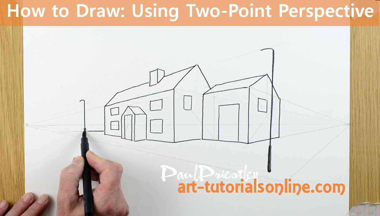 how to draw two point perspective easy