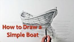 Start Drawing: PART 9 – Draw a Simple Boat