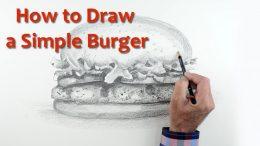 Start Drawing: PART 10 – Draw a Burger
