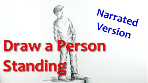Drawing a Person Standing Narrated version