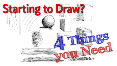 start drawing Part 1: 4 things you need