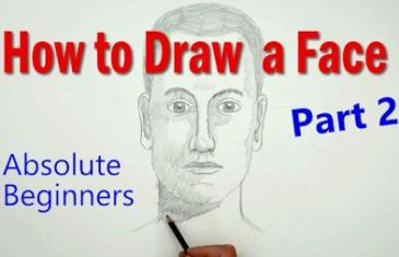 How to Draw a Face in proportion