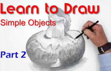 Learn to draw a mushroom