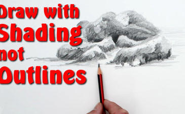 Draw rocks using shading and no outlines