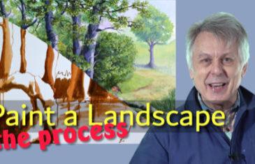 How to paint a landscape
