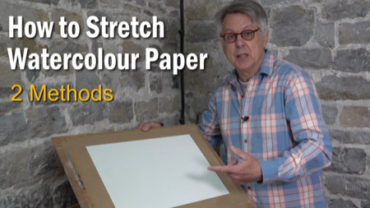 How to Stretch watercolour paper for wet in wet painting