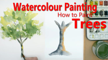How to paint trees in watercolour